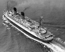 8x10 Print lle de France Passenger Ship of two Faces Refurbished 1949 #LLE