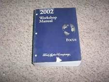 2002 Ford Focus Shop Service Repair Manual Set ZX3 LX SE ZTS ZX5 ZTW Wagon