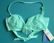 RADIO FIJI Bikini Top Swim Solid Green Sz M  NWT New