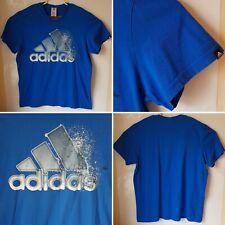 mens adidas blue t shirt size xl logo sport training fitness