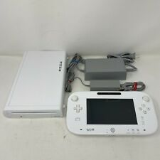 Nintendo Wii-U Console White Basic 8GB Console Complete WUP-001 Bundle TESTED