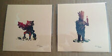 Olly Moss Guardians OF The Galaxy What A Bunch Of A-Holes Print Matched Set #'s