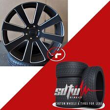 "24"" DUB 8 Ball S187 Black Milled Wheels w Tires fits Chevy GMC 1500 Silverado"