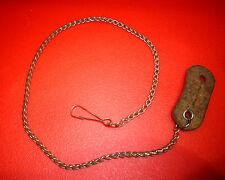 Ancienne Petite Chaine de Boutonnière Montre à Gousset Trousseau Cléf Lunette