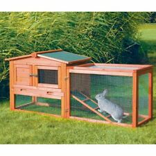 TRIXIE Rabbit Hutch with Outdoor Run - Extra Small, glazed pine, Extra Small