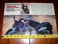 1986 KAWASAKI NINJA 600RX - ORIGINAL ARTICLE NINJA 600