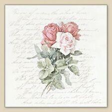 20 serviettes serviettes technique Roses Love immortalisé Nostalgie dire vintage 33x33