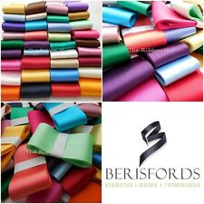 Berisfords 1/2 Kilo Lot of Wide Satin Ribbon, Mixed Colours, 25 - 70mm Widths