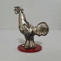 Vintage Metal Rooster Hat Pin Holder Stand