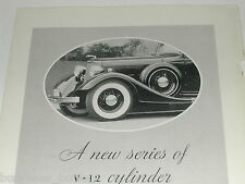 1934 Lincoln ad, Lincoln V-12 Auto, photo front end