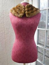 Unbranded Brown Genuine ~Mink Fur Collar Scarf~