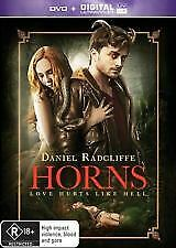 HORNS DVD - NEW & SEALED R RATED, DANIEL RADCLIFFE, JOE HILL FREE POST