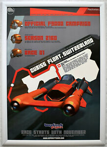 Wipeout Fusion RARE PS2 42cm x 59cm Promotional Poster