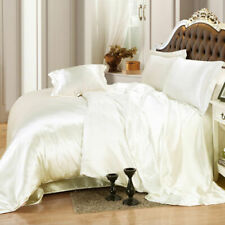 1000TC SATEEN SILK IN IVORY COLOR SOLID ALL UK SIZES SELECT ITEM FROM MENU