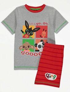 Boys Bing Bunny Short Pyjamas PJs Summer Nightwear Shorty 18 24 2 3 5 6 Years