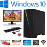 Fast Gaming PC Computer Bundle Intel Quad Core i5 16GB 1TB Win 10 2GB GT710