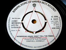 """CORKY MAYBERRY with THE JORDANAIRES - WHISPERING GRASS  7"""" VINYL DEMO"""