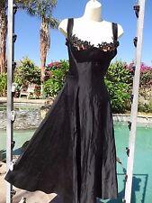Vintage 50s dress sexy pinup VLV bombshell 35 bust 27 waist full skirt black