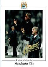 Roberto MANCINI Signed Autograph 16x12 Manchester City Montage Photo AFTAL COA