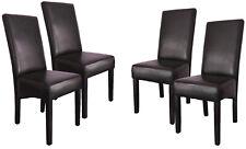 4er Set Esszimmerstühle / Esszimmerstuhl / Gastro Stühle / Sitzgruppe Braun 114