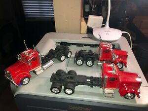 LOT OF 3 KENWORTH W900 TRACTOR TRUCKS W/ CAB RIG,SEMI 18-WHEELER 1:43 NEW RAY