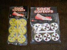 Vintage Sock Sorters 48 Factory Sealed 2 Packages 24 Per Each