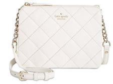 Kate Spade New York NWT $248 Emerson Place Cement Cross Body Shoulder Bag Quilt
