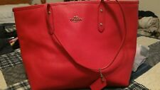 coach city zip tote red