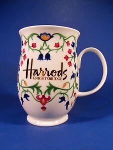 Harrods Knightsbridge Floral Fine Bone China Porcelain Coffee Tea Mug England
