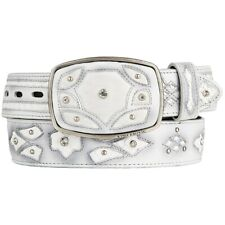Original White Python Skin Fashion Style Belt