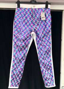 BNWT Topshop Joni Skinny Jeans Size 10 W28 L30 High Waisted Sequin Embellished