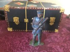 Antique Cast Iron Military Officer Blue Uniform