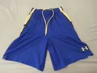 Boys Under Armour Shorts S Small Blue Athletic Gym Workout