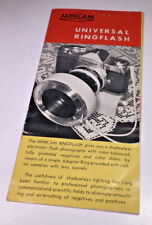 Sales leaflet for the vintage Minicam Universal Ringflash from 1960s - classic