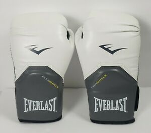 Everlast EVERSHIELD Adult Training Boxing Gloves Sparring White 12 0z. Pre-Owned
