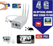 TELECAMERA IP CAM 4G 3G GSM WIFI CLOUD 2 MPX WIRELESS SD ONVIF CAMERA SIM ZOOM