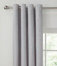 Argos Home Ribbed Lined Eyelet Curtain - 168x228cm - Grey