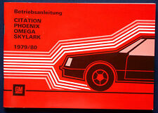 Owner's Manual * Betriebsanleitung 1979 Oldsmobile Omega (D)