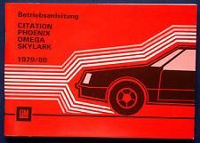 Owner's Manual * Betriebsanleitung 1979 Oldsmobile Omega (D)