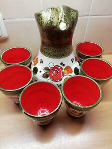 Schramberg Tirol Keramik Saftkrug Set