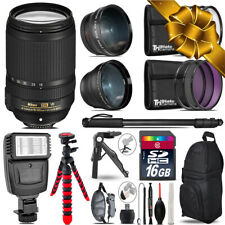 Nikon DX 18-140mm VR -3 Lens Kit + Slave Flash + Tripod - 16GB Accessory Bundle