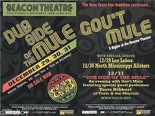 Gov't Mule Toots Los Lobos Concert Handbill Mini-Poster Beacon Nyc 2006