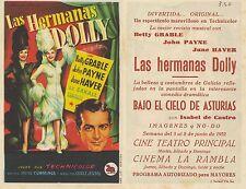 Programa PUBLICITARIO de CINE: LAS HEMANAS DOLLY.