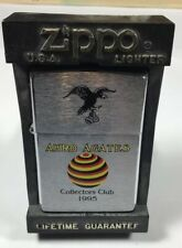 "Vintage Zippo Lighter With ""Akro Agate Collectors Club"" Insignia. 1995"