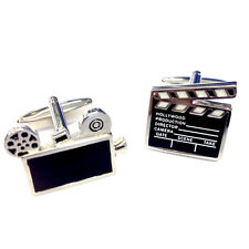 Clapper Board & Film Reel CUFFLINKS Film Producer Actor Cinema Present GIFT BOX
