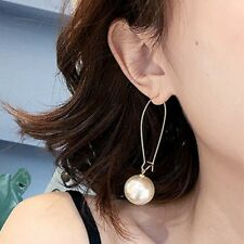 Frauen Ohrringe Tropfen lange Dangle Hook Schmuck Lady Gold Stud Perle 1Paar Gut