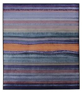 New Purple Blue Modern 8'x10' ft Hand Knotted Antique Old Style Silk & Area Rugs