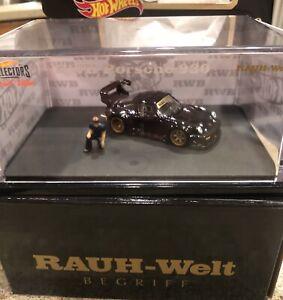 Hot Wheels RLC RWB Porsche 930 RAUH-Welt Begriff w/Akira Nakai figure
