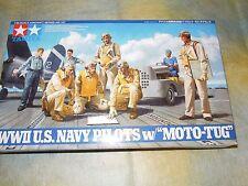Tamiya 1/48 pilotos de la segunda guerra mundial U.S. Navy Con Moto Tug Figura Modelo Kit #61107