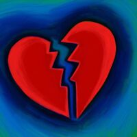 """perfect 30x30 oil painting handpainted on canvas""""Broken Heart """" NO3940"""